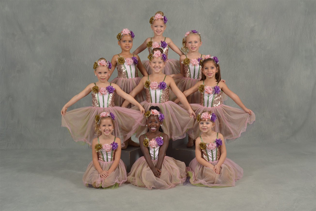 Girls wearing pink tutu ballet dress